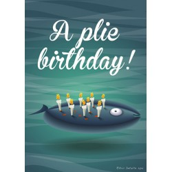 Carte postale A plie birthday