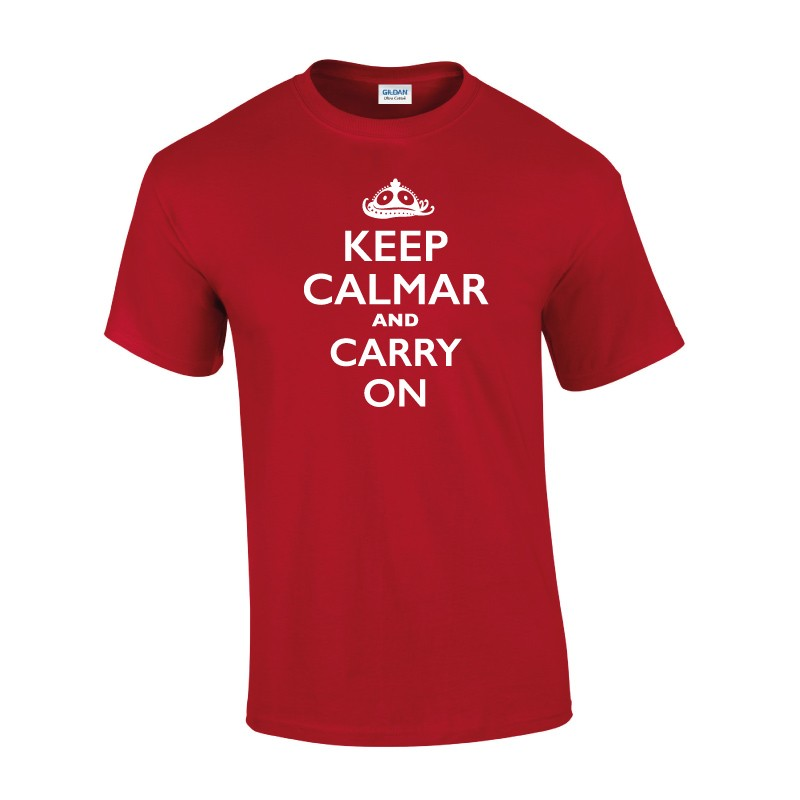 T-Shirt Dames Keep calmar and carry on