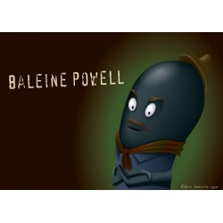 Carte postale Baleine Powell