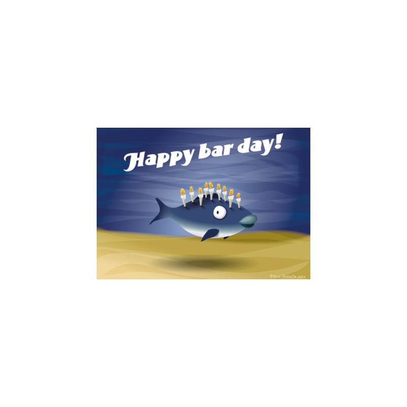 Carte postale Happy bar day