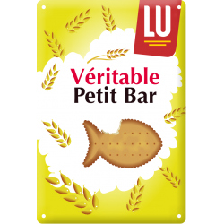 Plaque métallique Petit bar LU