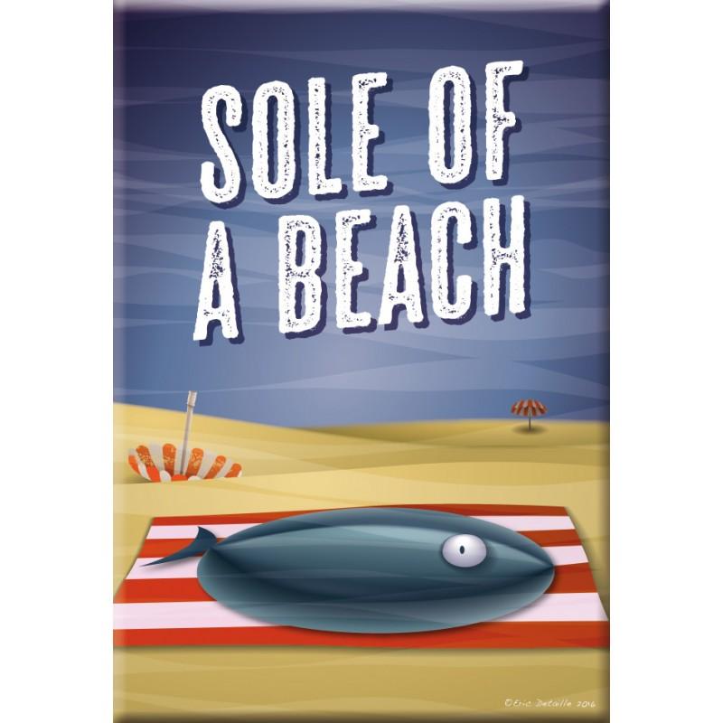 Sole of a beach